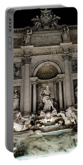 Rome - The Trevi Fountain At Night 3 Portable Battery Charger