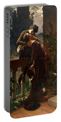 Romeo And Juliet On The Balcony Portable Battery Charger