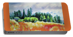 Romp On The Hill Portable Battery Charger by Kathy Braud