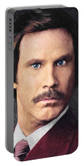 Ron Burgundy Portable Battery Charger