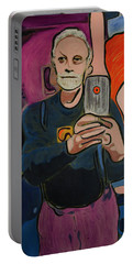 Ron Selfie Portrait 2016 Portable Battery Charger by Ron Richard Baviello