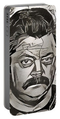 Ron Swanson Portable Battery Charger by Paul Van Scott
