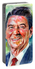 Ronald Reagan Watercolor Portable Battery Charger