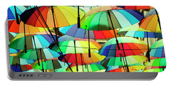 Roof Made From Colorful Umbrellas Portable Battery Charger