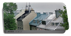 Portable Battery Charger featuring the photograph Rooftops by John Schneider
