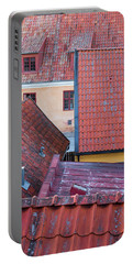 Rooftops Of The Swedish Town Visby Portable Battery Charger