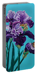 Kim's Iris's With Monarch. Portable Battery Charger by Susan Duda