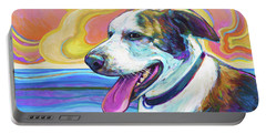 Portable Battery Charger featuring the painting Rooney by Robert Phelps
