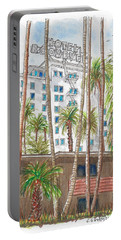 Roosevelt Hotel In Hollywood Blvd., Hollywood, California Portable Battery Charger