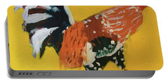 Portable Battery Charger featuring the painting Rooster 2 by Donald J Ryker III