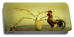 Rooster At Sunrise Portable Battery Charger