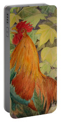 Rooster Portable Battery Charger by Laurianna Taylor
