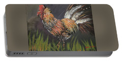 Rooster - Moby - Chicken Portable Battery Charger by Jan Dappen