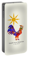 Rooster Pattern Art Portable Battery Charger