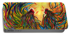 Roosters Frienship Portable Battery Charger