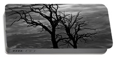 Roots In Black And White Portable Battery Charger