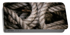 Rope Abstract Portable Battery Charger
