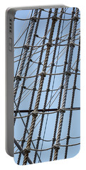 Portable Battery Charger featuring the photograph Rope Ladder by Dale Kincaid