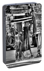 Portable Battery Charger featuring the photograph Ropes by Adrian LaRoque