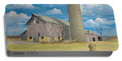 Portable Battery Charger featuring the painting Rorabeck Barn by Norm Starks