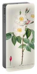 Rosa Damascena Subalba Portable Battery Charger