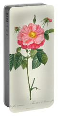 Rosa Gallica Flore Marmoreo Portable Battery Charger
