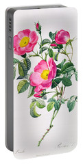 Rosa Lumila Portable Battery Charger by Pierre Joseph Redoute