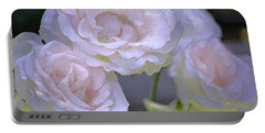 Rose 120 Portable Battery Charger by Pamela Cooper