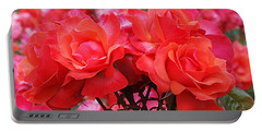 Rose Abundance Portable Battery Charger