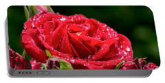 Portable Battery Charger featuring the photograph Rose After Rain by Leif Sohlman