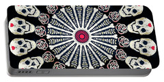 Rose And Bone Mandala Of The Heart Portable Battery Charger