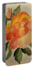 Rose And Rosebuds Portable Battery Charger by Maria Urso