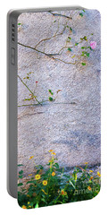Portable Battery Charger featuring the photograph Rose And Yellow Flowers by Silvia Ganora