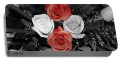 Rose Bouquet Portable Battery Charger by DigiArt Diaries by Vicky B Fuller