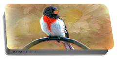 Rose-breasted-grosbeak Portable Battery Charger by Mary Timman