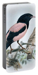 Rose Colored Starling Portable Battery Charger