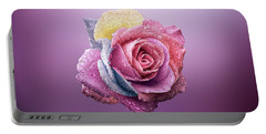 Rose Colorfull Portable Battery Charger by Bess Hamiti