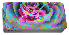 Portable Battery Charger featuring the digital art Rose by Eleni Mac Synodinos