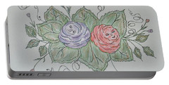 Rose Family Pose Portable Battery Charger by Sharyn Winters