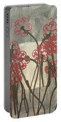 Rose Field Portable Battery Charger by Artists With Autism Inc