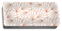 Rose Gold And White Portable Battery Charger