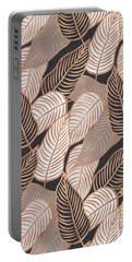 Rose Gold Jungle Leaves Portable Battery Charger