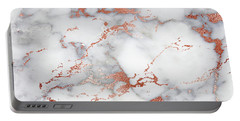 Rose Gold Marble 3 Portable Battery Charger