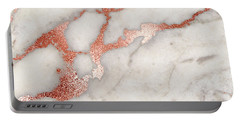 Rose Gold Marble 5 Portable Battery Charger