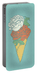 Rose Ice Cream Portable Battery Charger