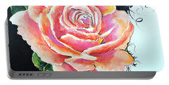 Rose Portable Battery Charger by Jodie Marie Anne Richardson Traugott          aka jm-ART