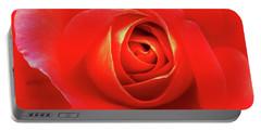Rose Portable Battery Charger by Mary Ellen Frazee