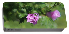 Rose Of Sharon Glazed Portable Battery Charger