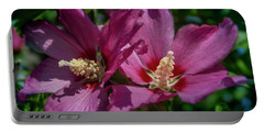 Rose Of Sharon Hibiscus Portable Battery Charger