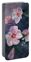 Portable Battery Charger featuring the painting Rose Of Sharon by Katherine Miller